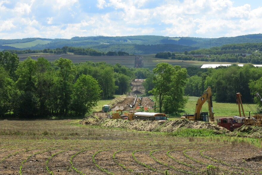 Construction area for the Mariner East 2 Pipeline near Blairsville, Pa.
