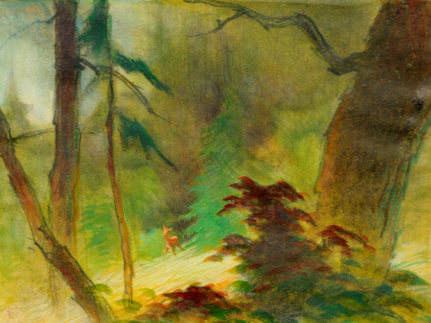 Wong's watercolor impressions were a shift from the ornate style used for the background art of<em> </em>Disney's earlier films.
