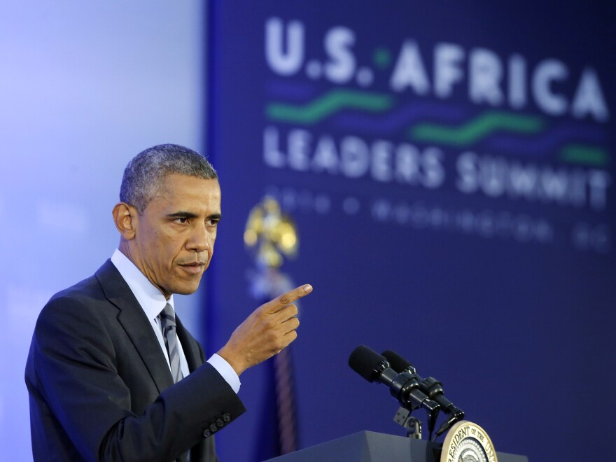 President Obama spoke to young Africans who were held up as future leaders during this week's Africa Summit.