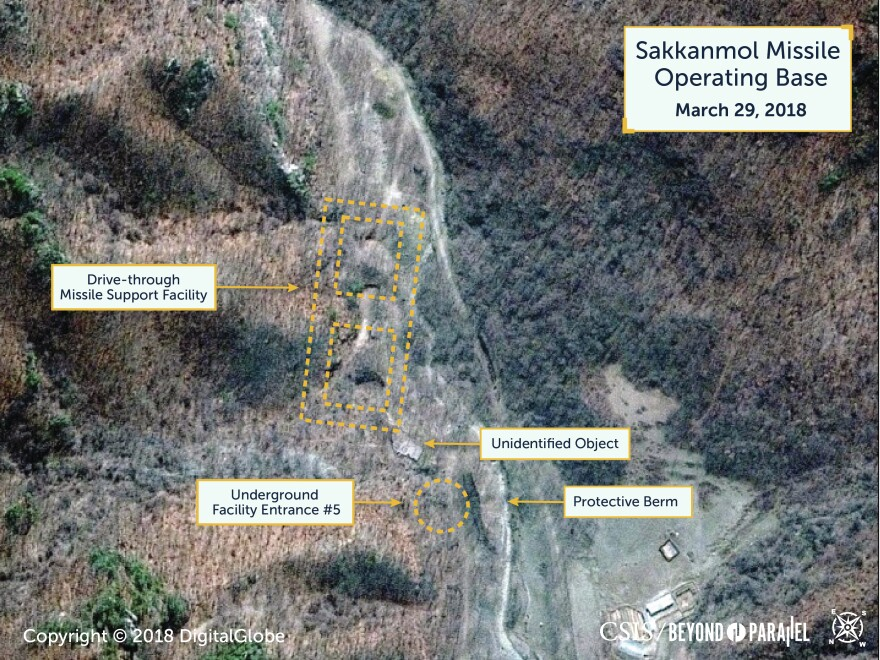 Sakkanmol missile bases have an underground missile support facility.