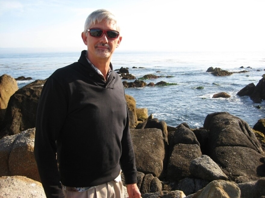 Steve Palumbi, director of Stanford University's Hopkins Marine Station, on China Point, Monterey Bay. Palumbi says it's hard to keep his students' attention when a pod of whales or dolphins swims past the marine lab window.
