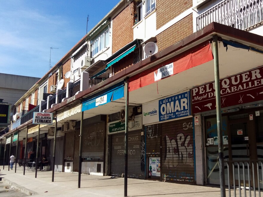 Cheap housing and immigrant-run businesses are found in San Cristóbal de los Ángeles, a 30-minute train ride from central Madrid. Although some longtime, native-born residents complain about changes in their area, they wouldn't think of turning to the right wing for answers.