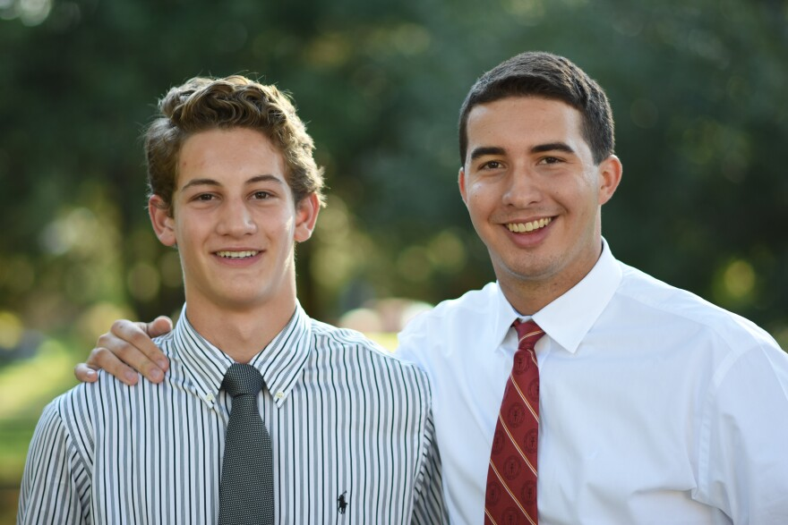 De Smet Jesuit High School junior Michael Ahrens and theology teacher Tim Wilmes are going to see Pope Francis speak in person.