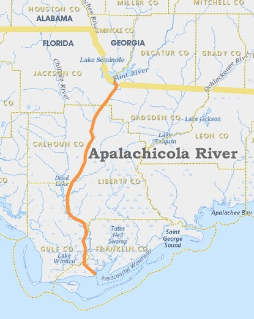 Map of Apalachicola River