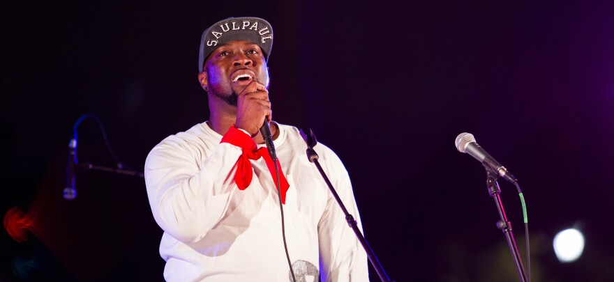 SaulPaul performs at the KUTX Rock the Park concert series at Mueller Lake Park.