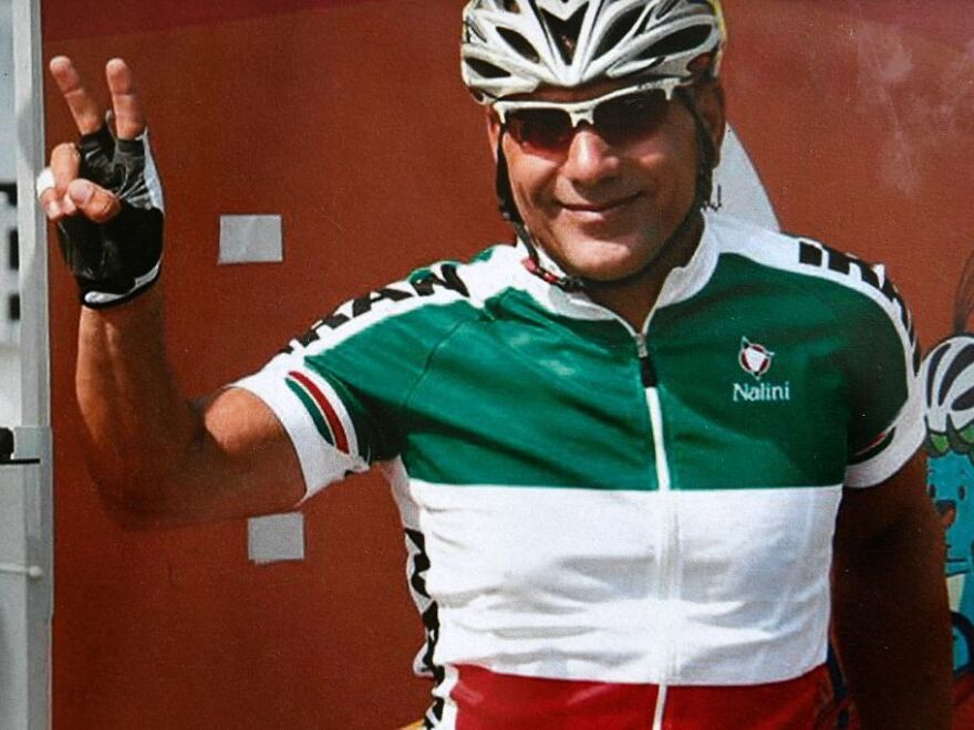Iranian cyclist Bahman Golbarnezhad, who died on September 17 during a cycling race in Rio de Janeiro.