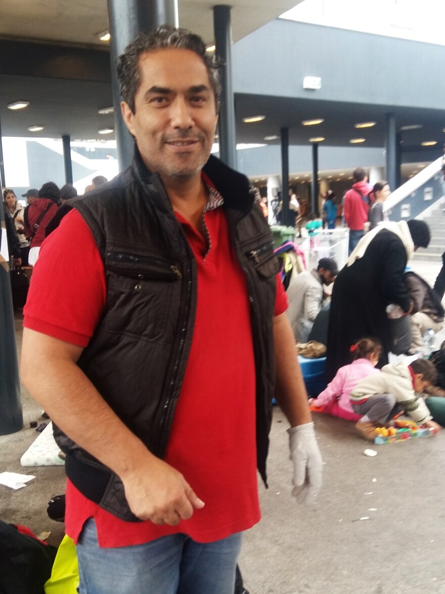 Yousef El-Hindi, a Jordanian neurosurgeon who went to medical school in Hungary. He's volunteering to treat migrants at Budapest's main train station.
