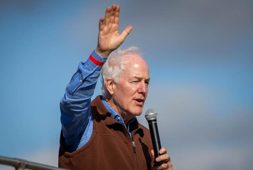 U.S. Sen. John Cornyn visited College Station on Oct. 28. as part of his statewide bus tour.