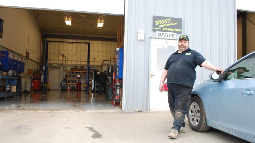 The generous Brant Torsen at Boog's Automotive shop.