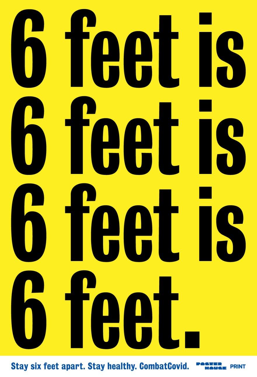 """6 feet is 6 feet is 6 feet is 6 feet."" by<a href=""https://www.metalmother.com/""> Matt Dorfman</a>."