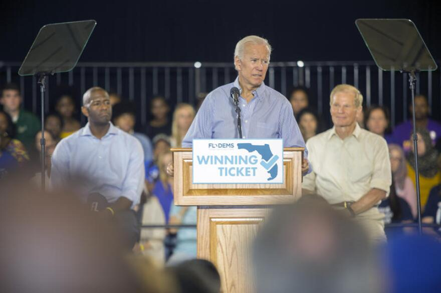 Joe Biden has canceled his scheduled Thursday appearance in Tampa.
