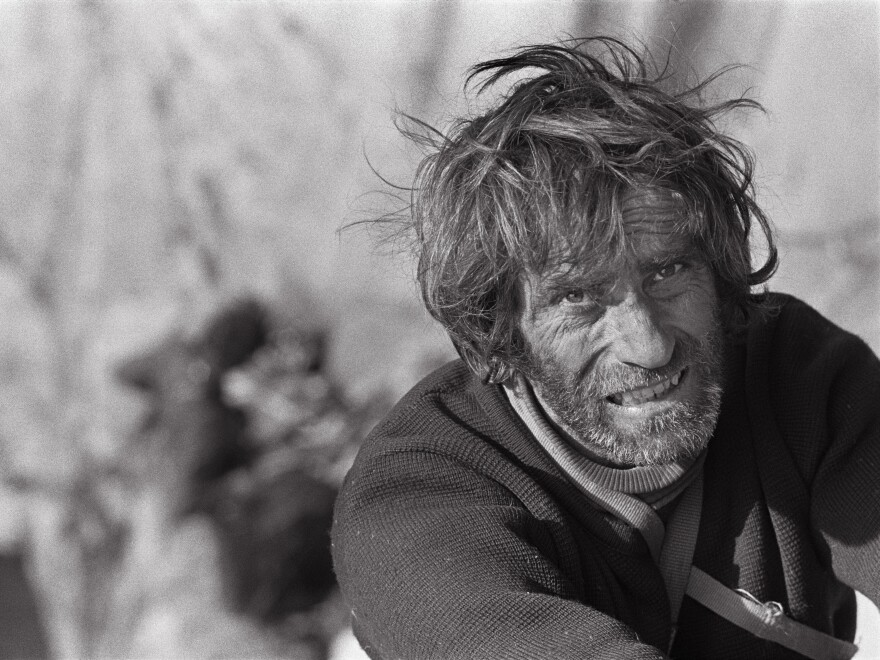 Climber Warren Harding on the last pitch of El Capitan's Dawn Wall in Yosemite National Park in 1970.