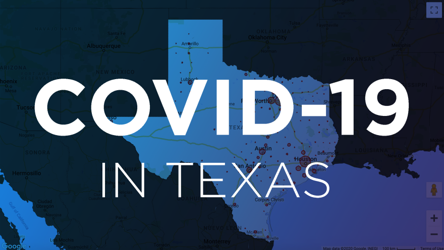 Map of COVID-19 deaths in Texas