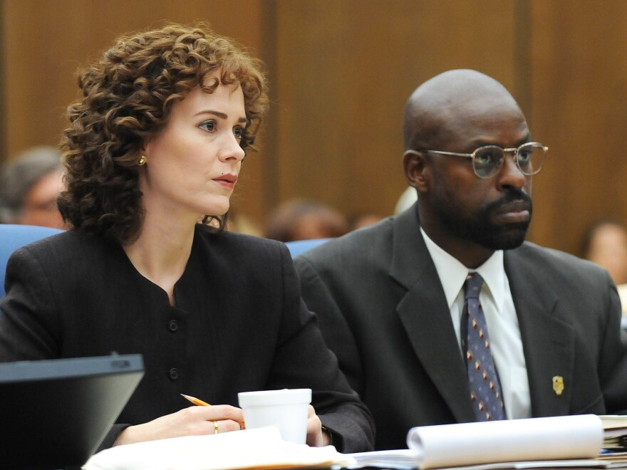 Sarah Paulson plays prosecutor a Marcia Clark and Sterling K. Brown is Christopher Darden in the FX series <em>American Crime Story: The People vs. O.J. Simpson. </em>