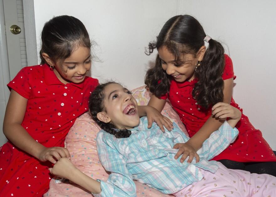 Nageeb Alomari's three daughters in California.
