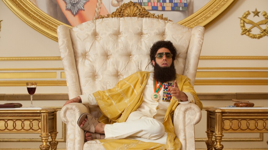 Sacha Baron Cohen plays Admiral General Aladeen, the authoritarian, anti-Semitic and unexpectedly sympathetic protagonist of <em>The Dictator</em>.