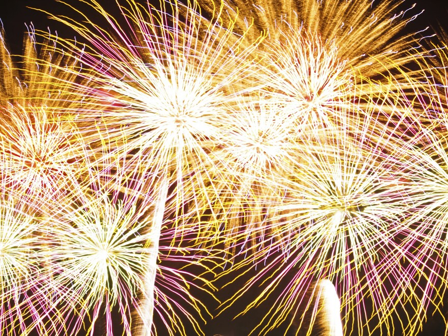 Photo of fireworks.