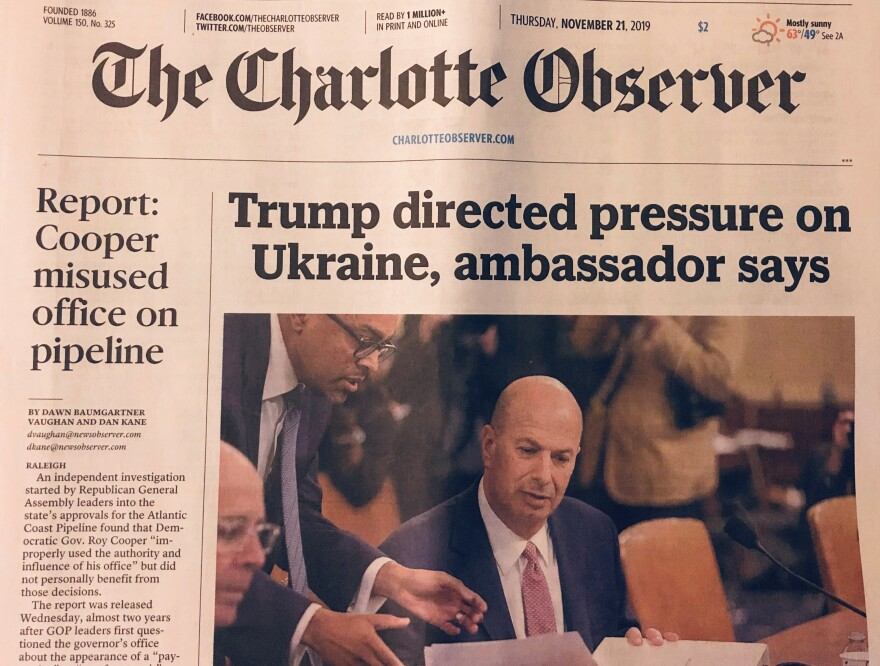 Charlotte Observer front page