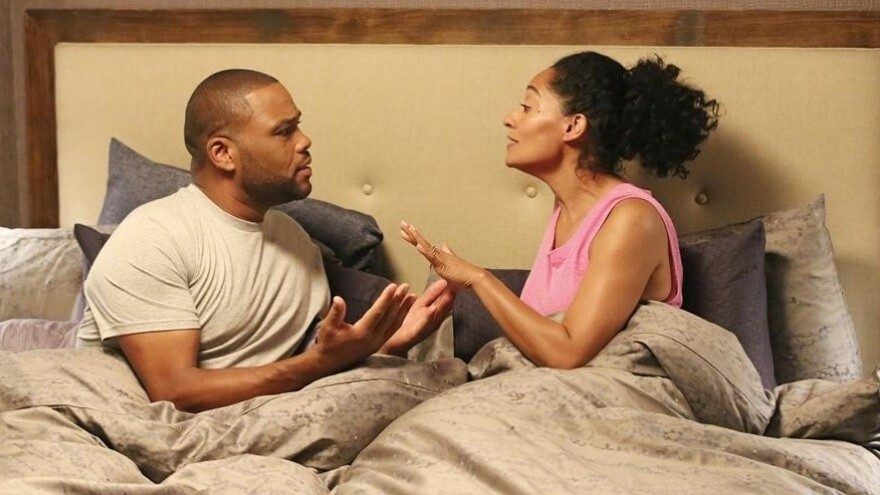 Anthony Anderson and Tracee Ellis Ross star in ABC's <em>Black-ish</em>.