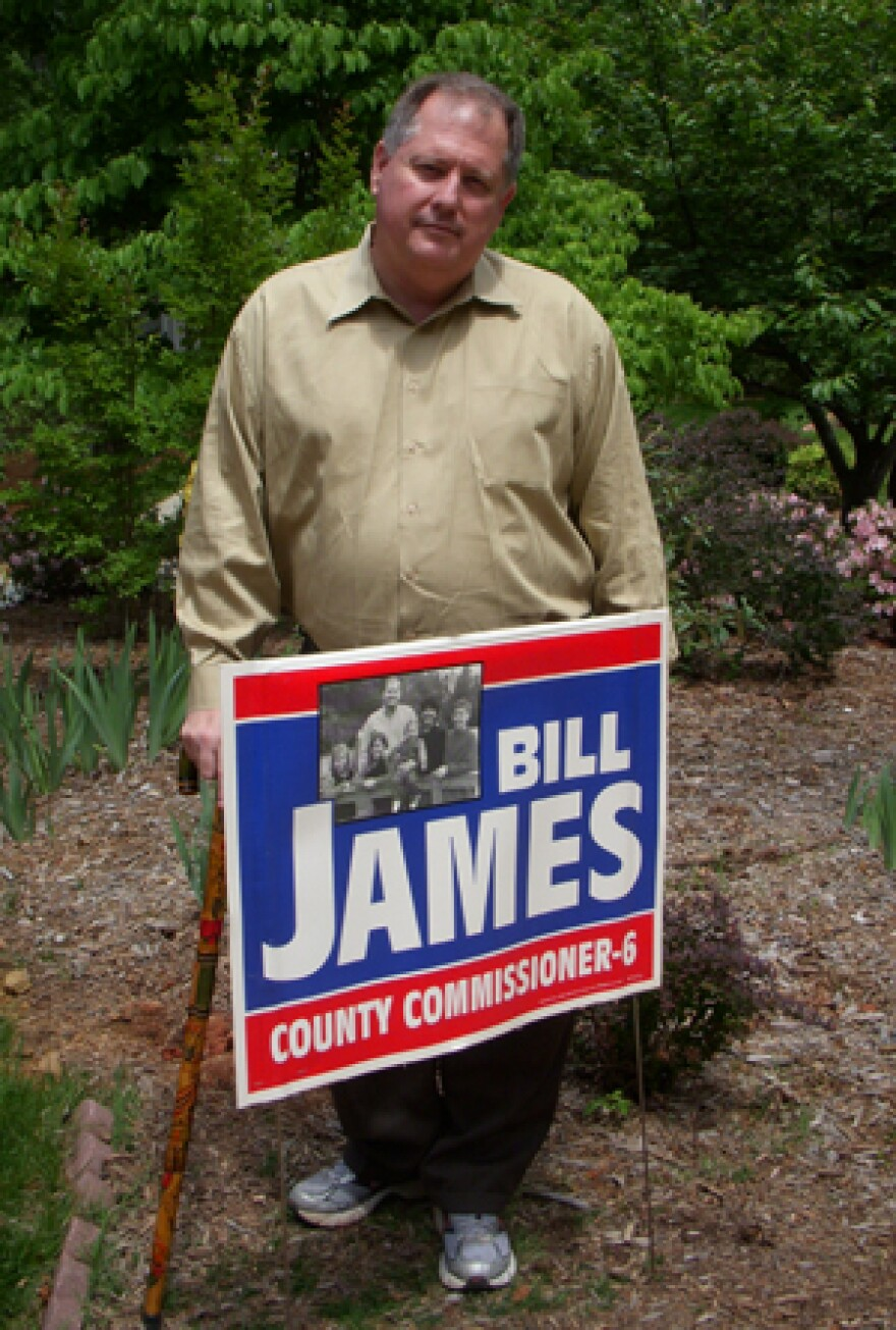 Mecklenburg Republican Commissioner Bill James lost his re-election bid Tuesday.