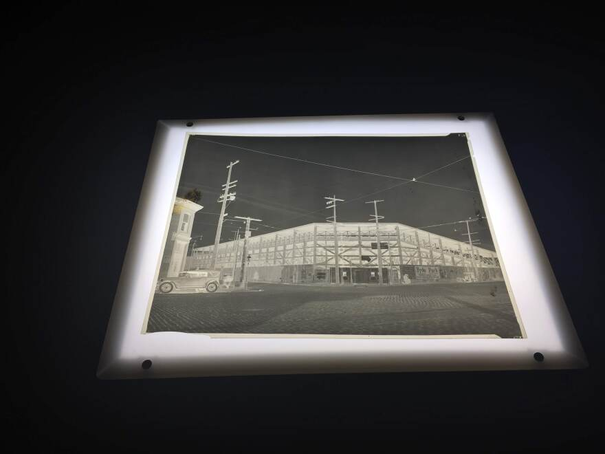 An archivist at the Missouri Historical Society discovered this negative of Stars Park. It was in a large collection that was donated to the organization.