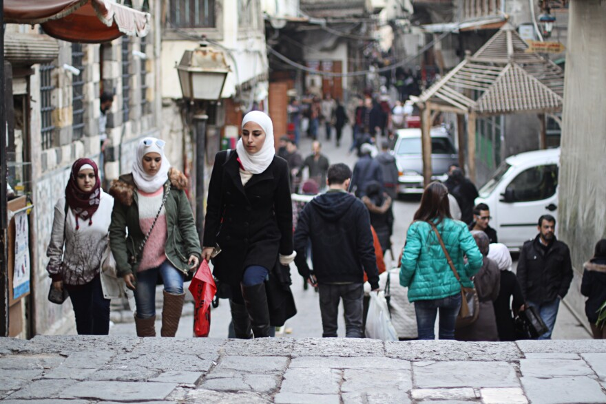 In the Old City, life seems to thrive. But there are constant reminders of the ravages of war — high food prices, roaring generators to supply power and homeless children begging on the streets.