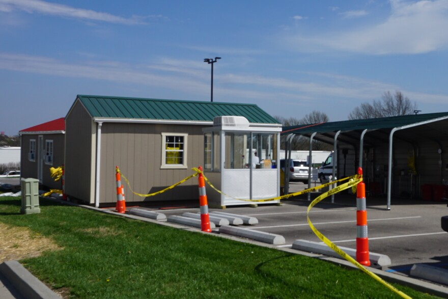 The drive-thru triage area at Phelps Health Medical Center in Rolla is part of the hospital's preperation to handle increased patients becaue of coronavirus. 04-02-20
