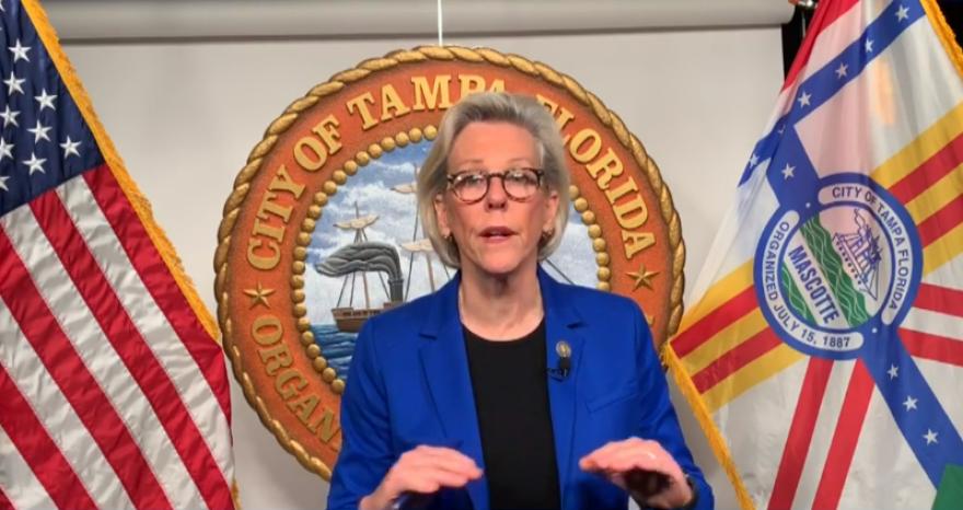 Tampa Mayor Jane Castor announces her decision on Facebook Live
