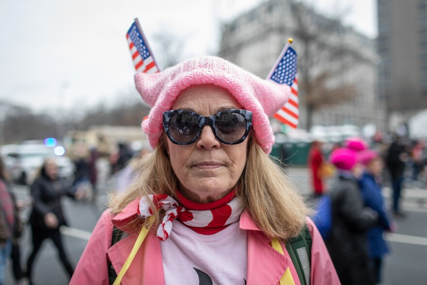 D.C. resident Anne Seymour participates in the march.