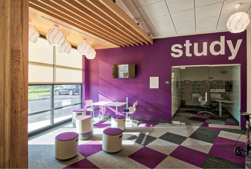 A new public library that opened in Pacific, Missouri, a few months ago is one of a handful of freshly imagined Scenic Regional Library spaces – made possible through a $20 million bond-financed project – serving towns in eastern Missouri.