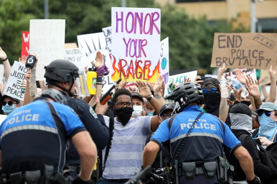 Thousands gathered at the Capitol on Sunday and marched to Austin City Hall to protest police killings.
