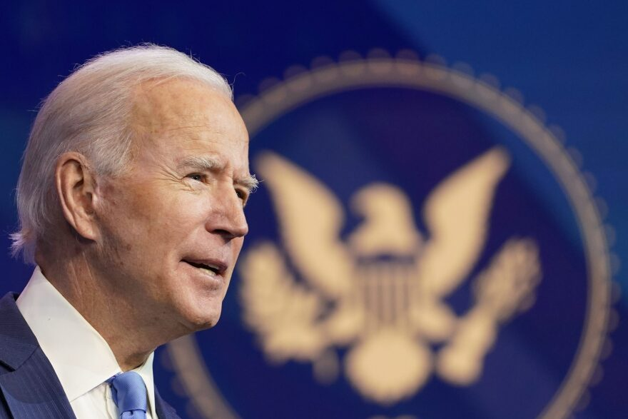 President-elect Joe Biden announces his choice for several positions in his administration in Wilmington, Del., on Dec. 11. (Susan Walsh/AP)