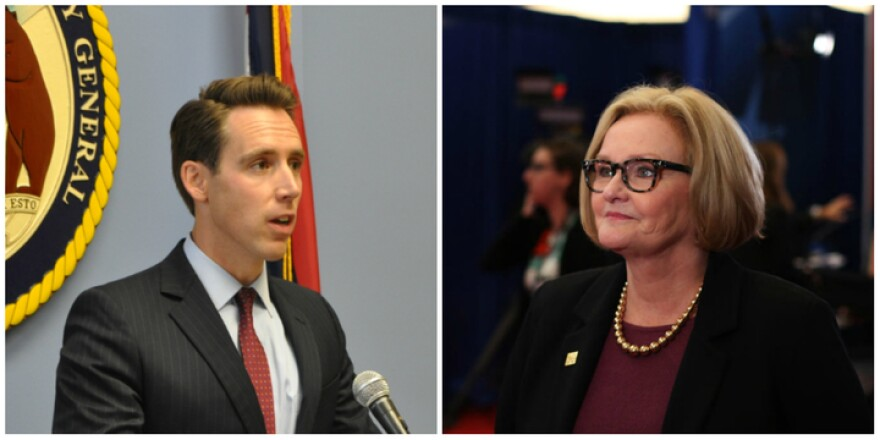 Republican Attorney General Josh Hawley and Democratic U.S. Sen. Claire McCaskill