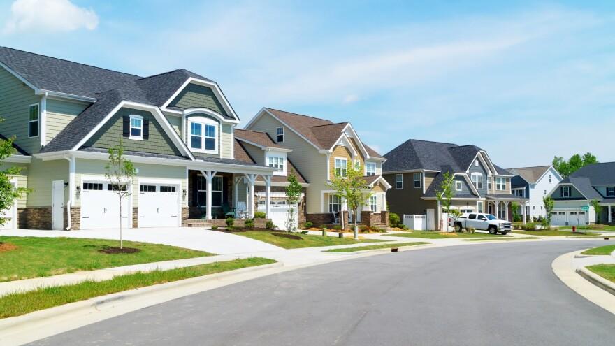 Row of houses along a street