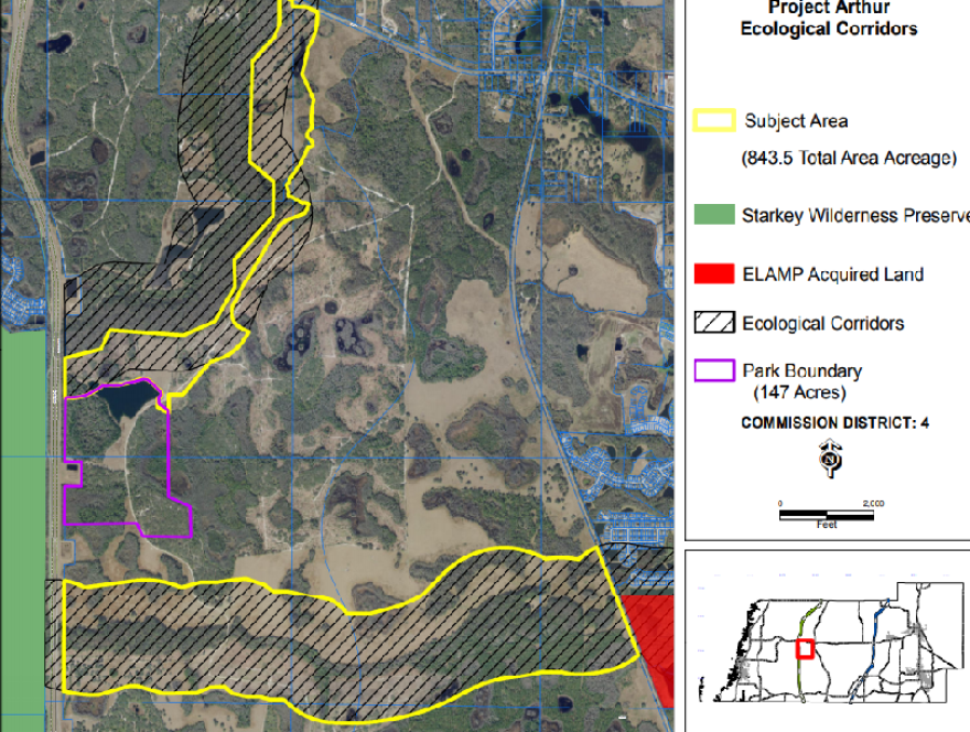 Map of the new area of land in Pasco