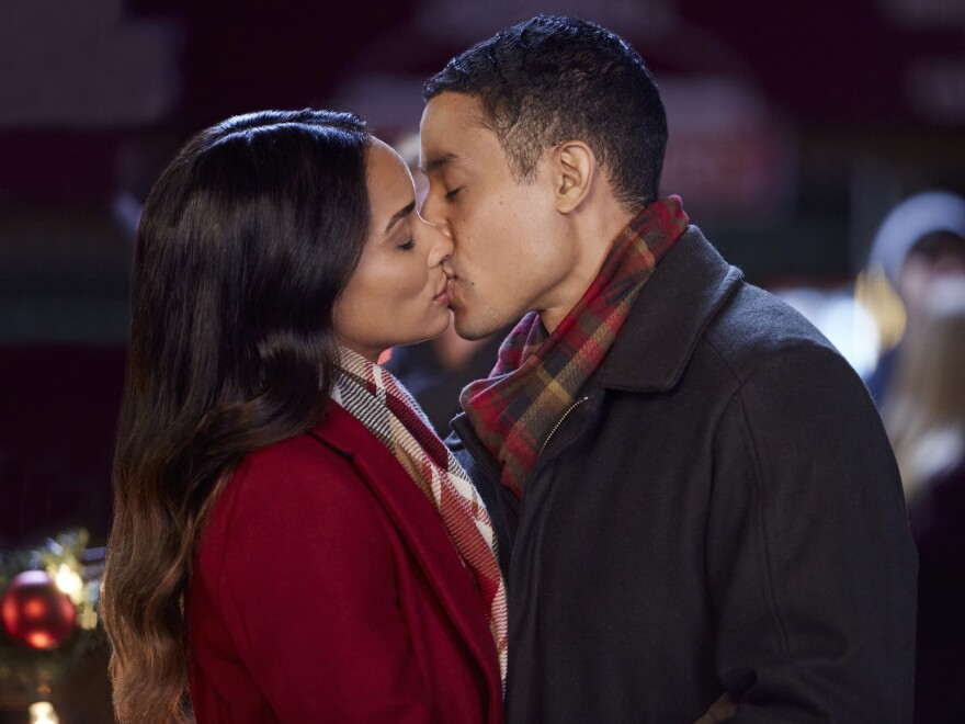 Rochelle Aytes and Mark Taylor star in one of the Hallmark Channel's many new holiday romcoms, <em>A Christmas Tree Grows in Colorado</em>.