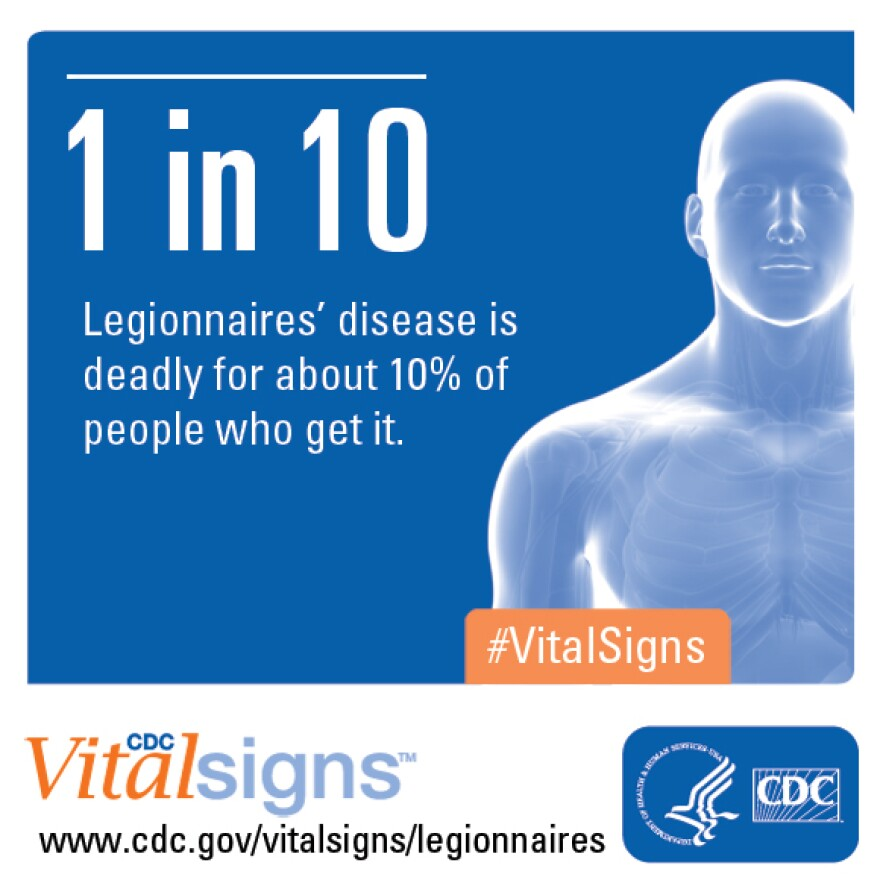 And infographic says 1 in 10 people who get legionnaire's disease die from it.