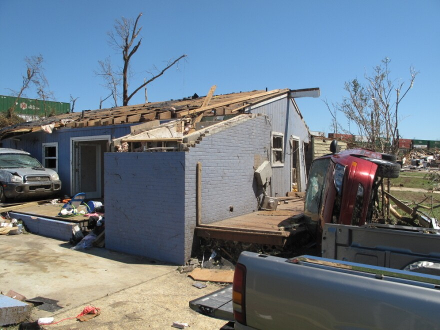 The Linwood neighborhood in Tuscaloosa, Ala., was pulverized by the nation's deadliest tornado outbreak in nearly four decades.