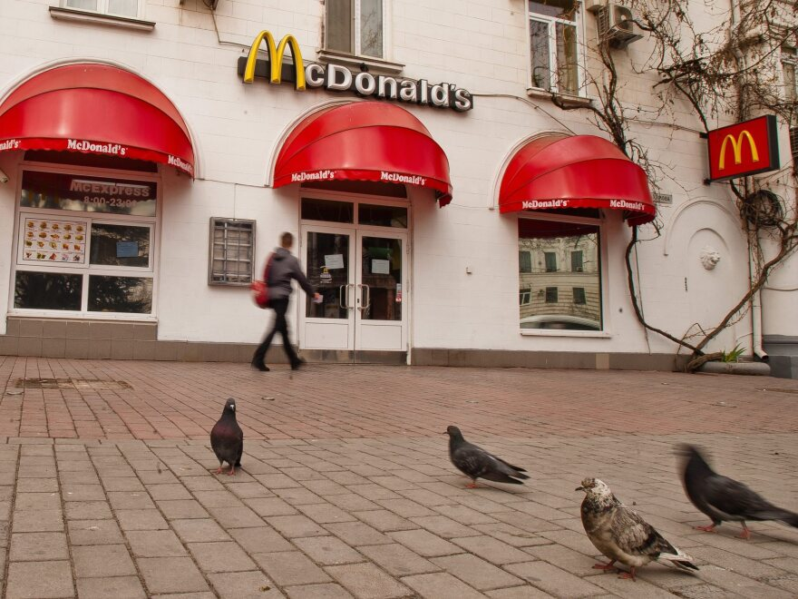 The McDonald's fast food restaurant in Sevastopol, Crimea, in a photograph taken on Friday.