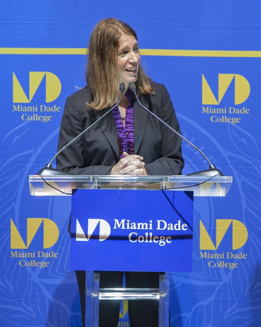 Health and Human Services Secretary Sylvia Burwell spoke at Miami Dade College