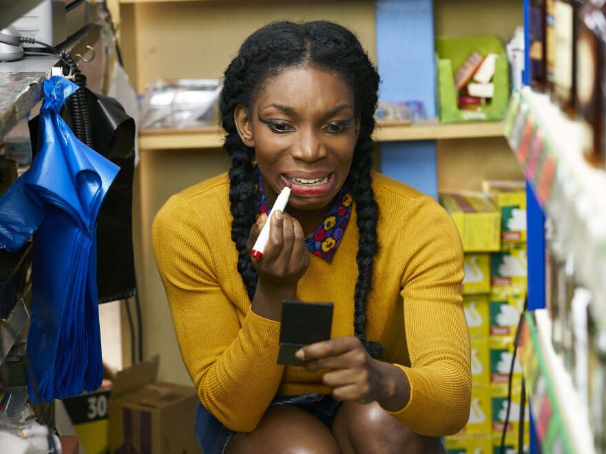 """Tracey Gordon being her anxiously free self in Netflix's """"Chewing Gum."""""""