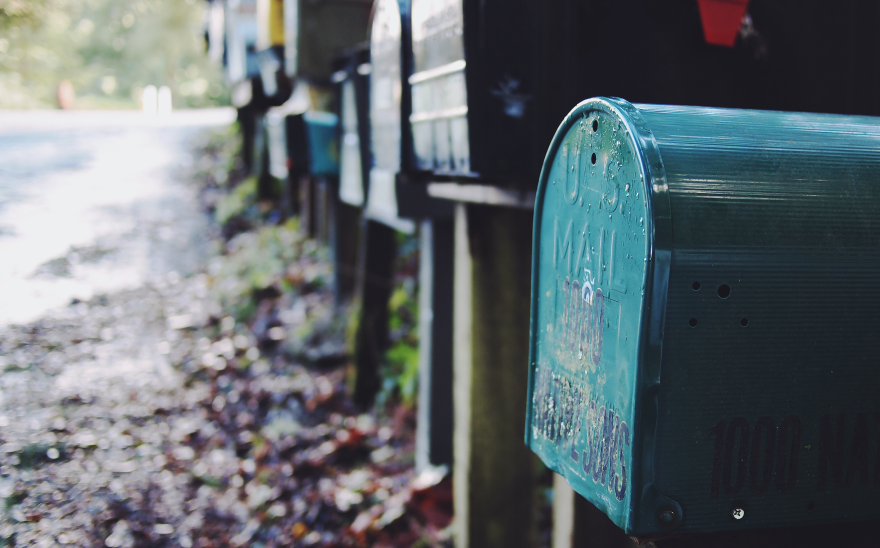 Mailboxes along a road