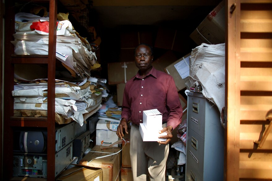They call him the condomologist. Peter Mansaray, advocacy officer for the Sierra Leone National Aids Response group, runs a program that hands out free condoms.