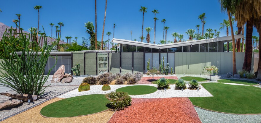 Chris Menrad's home in Palm Springs.