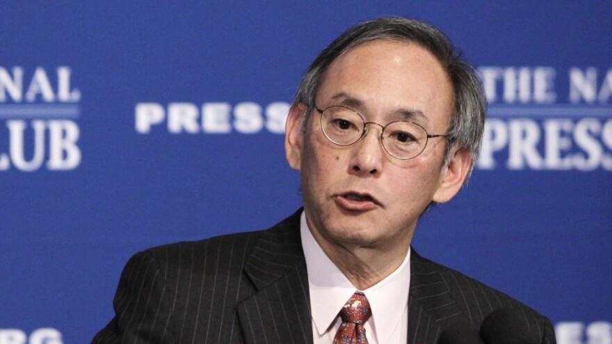 Energy Secretary Steven Chu gives a speech at the National Press Club in Washington.