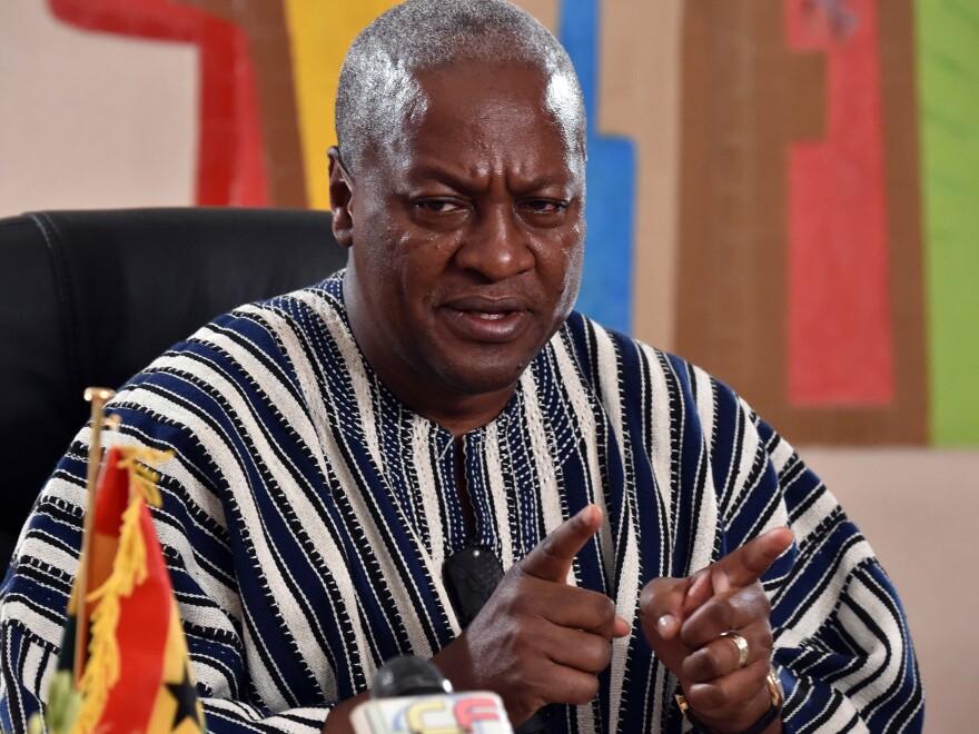 President John Dramani Mahama of Ghana has goats on his mind.