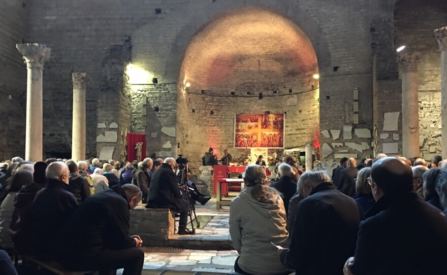 Mass is held in the Catacombs of Domitilla, where 40 bishops worked out a pact in 1965 agreeing to live like the poor they served.