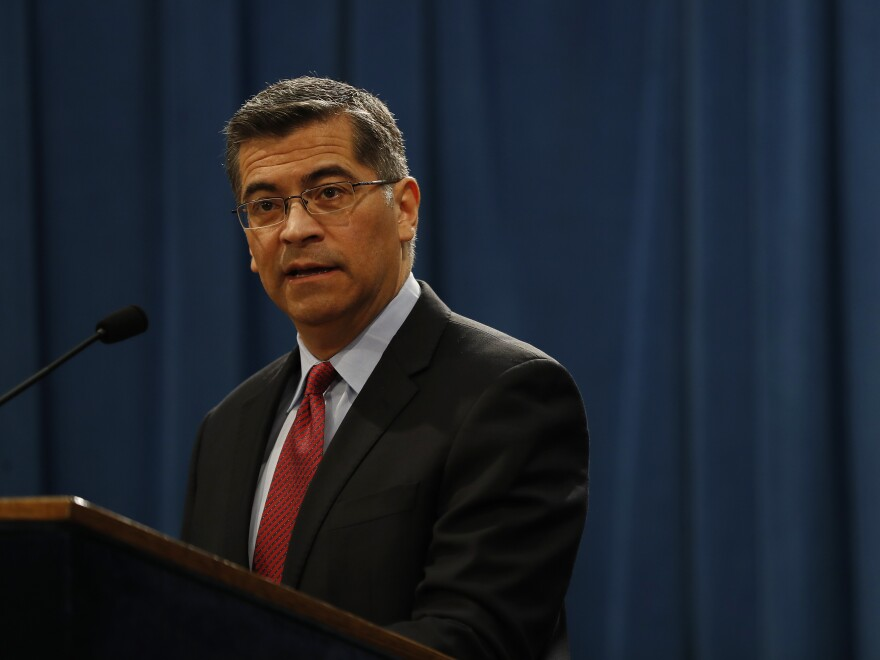 California Attorney General Xavier Becerra  during a press conference last year.