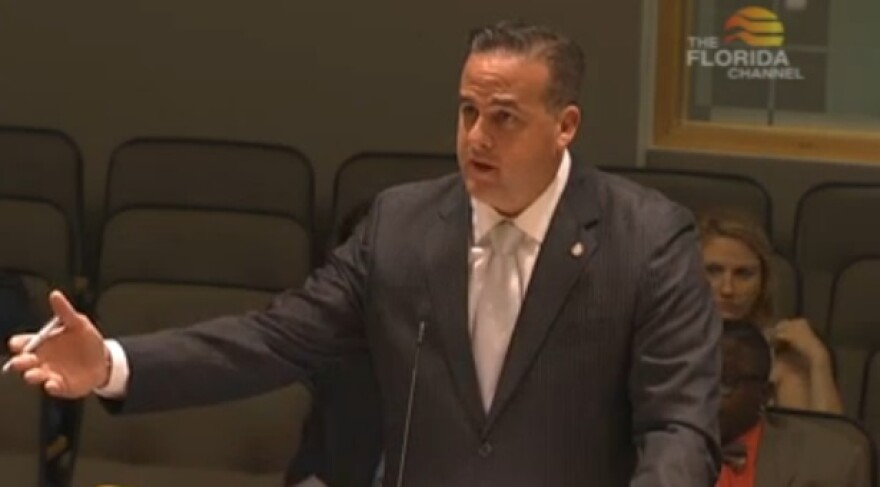 Rep. Frank Artiles (R-Miami) introducing his bill.