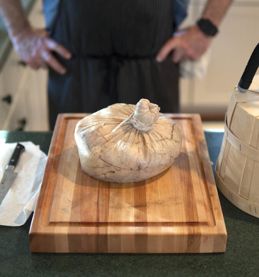 <em>Poulet en Vessie </em>is chicken cooked in a pig's bladder. In <em>Dirt,</em> Bill Buford describes pig bladders as being like a small rubber sock — just insert chicken!